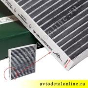 Воздушный угольный салонный фильтр УАЗ Патриот 2012г и позже, 3163-8101140-40, размеры на фото