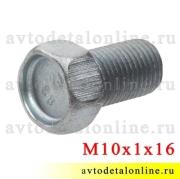 Болт М10х1х16 поворотного кулака УАЗ, 201514-П29, длина 16 мм, Красная Этна