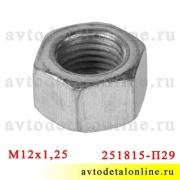 Гайка М12*1,25, ключ 17 применяется для головки блока ЗМЗ-402, УМЗ-421, 417 на УАЗ и ГАЗ  251815-П29